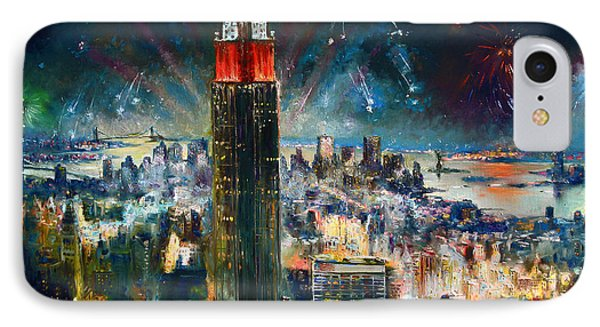 Nyc In Fourth Of July Independence Day IPhone Case by Ylli Haruni