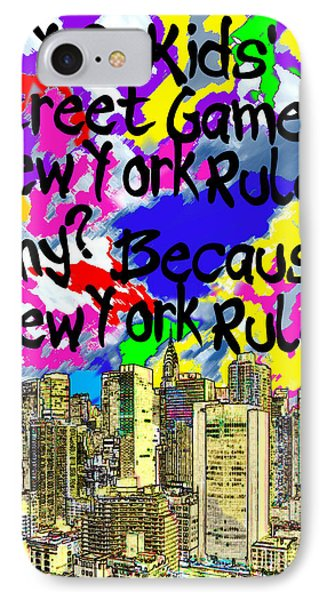 Nyc Kids' Street Games Poster Phone Case by Bruce Iorio