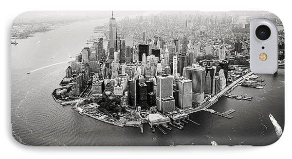 Nyc Manhattan Aerial IPhone Case by Nina Papiorek