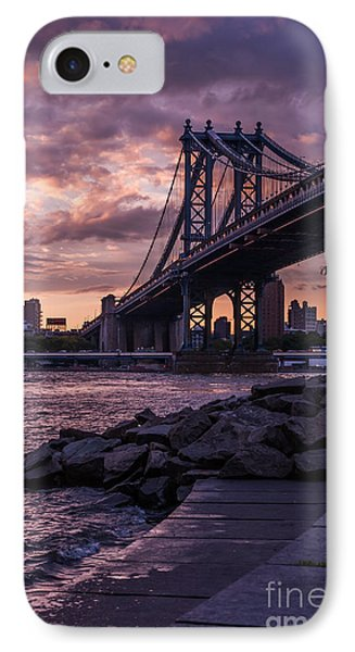 Nyc- Manhatten Bridge At Night IPhone Case