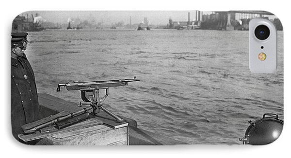 Nyc Prohibition Police Boat IPhone Case by Underwood Archives