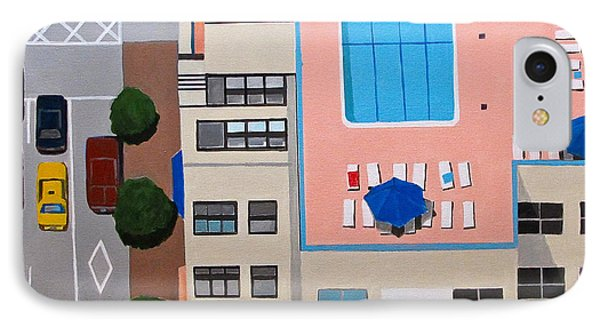 Nyc Roof Pool IPhone Case by Toni Silber-Delerive
