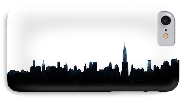 Nyc Silhouette IPhone Case by Natasha Marco