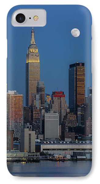 Nyc Skyline Blue Hour IPhone Case by Susan Candelario