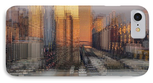 Nyc Skyline Shapes IPhone Case by Susan Candelario