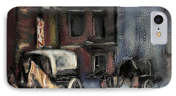 Nyc Snow 1910 IPhone Case by Carrie Joy Byrnes
