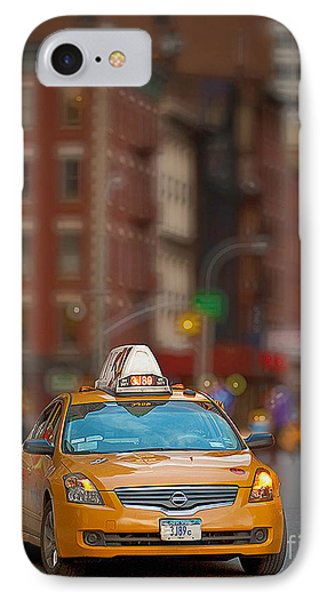 IPhone Case featuring the digital art Taxi by Jerry Fornarotto