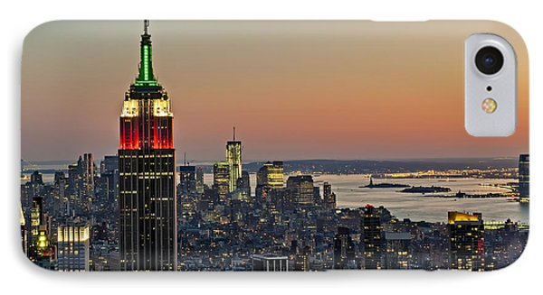 Nyc Top Of The Rock IPhone Case by Susan Candelario