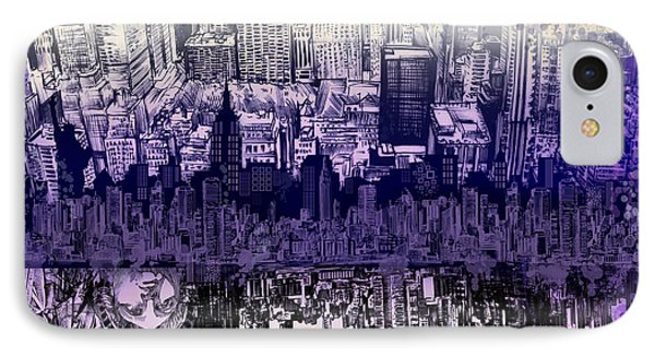 Nyc Tribute Skyline 2 IPhone Case
