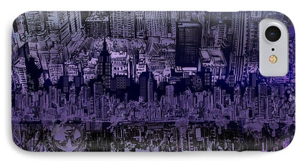 Nyc Tribute Skyline IPhone Case by Bekim Art
