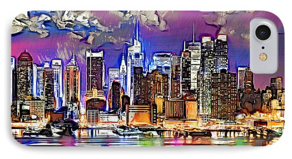 IPhone Case featuring the digital art Nyc - Wallpaper by Daniel Janda