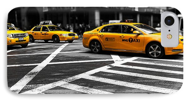Nyc  Yellow Cab - Cki Phone Case by Hannes Cmarits