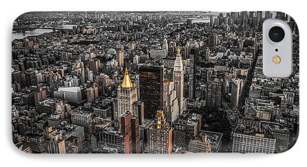 Nycs Golden Tops IPhone Case by Hannes Cmarits