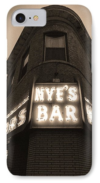 Nye's Bar Sepia V.2 IPhone Case by Heidi Hermes