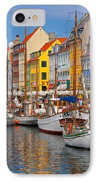 Nyhavn Sailboats IPhone Case by Dennis Cox WorldViews