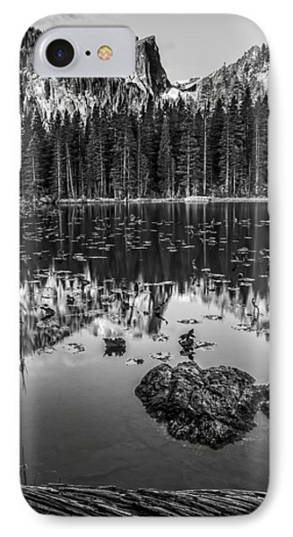 Nymph Lake Sunrise Black And White IPhone Case by Lee Kirchhevel