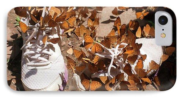 Nymphalid Butterflies Salt Puddle Feeding IPhone Case by Paul D Stewart