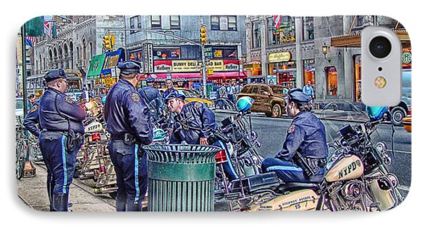 Nypd Highway Patrol Phone Case by Ron Shoshani