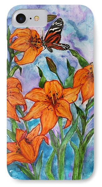 O Tiger Lily IPhone Case by Janet Immordino
