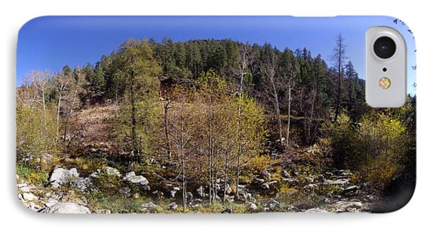 Oak Creek Canyon Panorama November 11 2013 IPhone Case