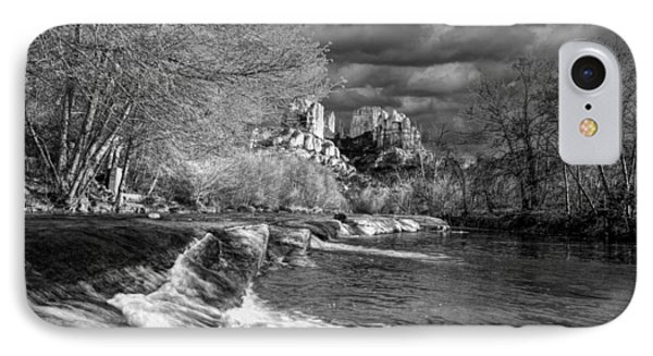 Oak Creek Flowing Below Cathedral Rock IPhone Case