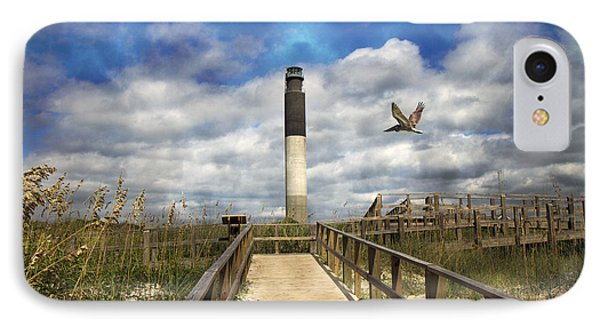 Oak Island Lighthouse Phone Case by Betsy Knapp
