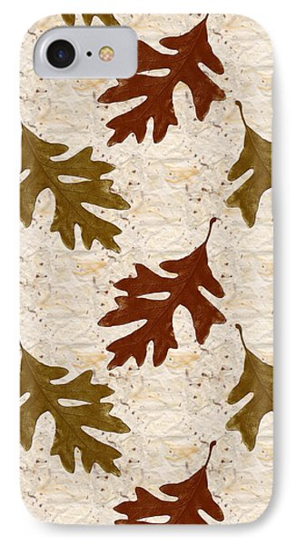 Oak Leaf Pattern IPhone Case by Christina Rollo