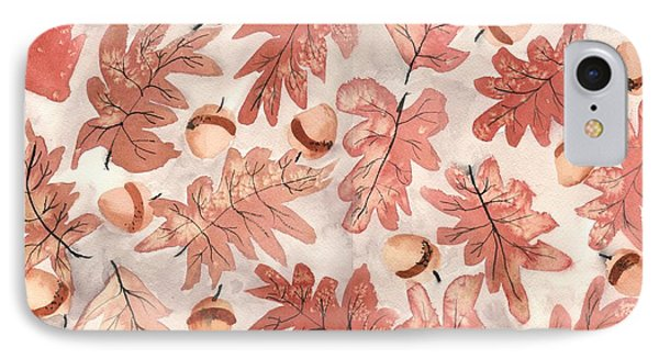 Oak Leaves And Acorns IPhone Case by Neela Pushparaj