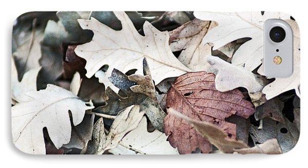 Oak Leaves In Fall IPhone Case by Gary Brandes