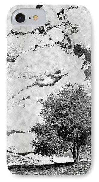 Oak On A Hill Blk And Wht IPhone Case by Gary Brandes