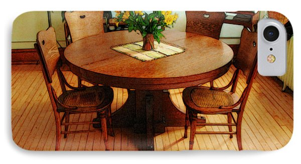 Oak Table And Chairs IPhone Case