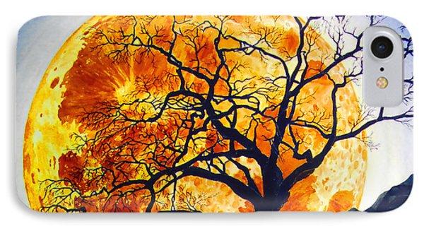 Oak Tree Moonrise IPhone Case by Douglas Castleman
