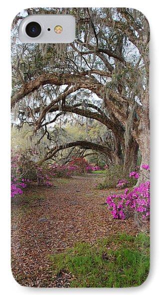 Oak Trees And Azaleas Phone Case by Jack Nevitt