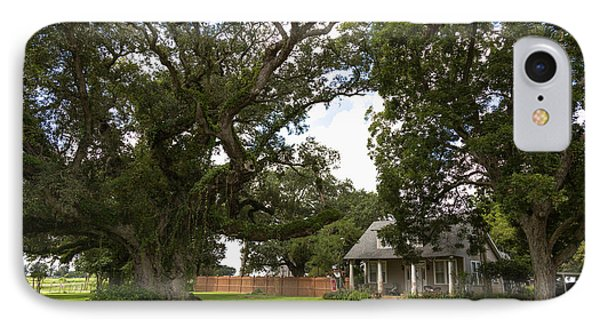 Oak Trees Around Country House IPhone Case