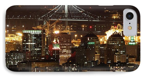 Oakland California Skyline IPhone Case by Georgia Fowler