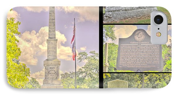 Oakland Cemetery Collage IPhone Case