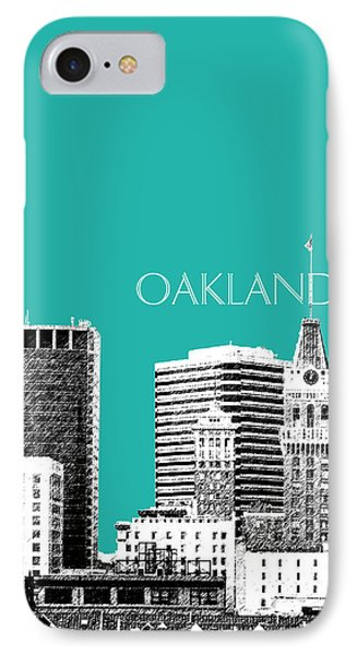 Oakland Skyline 1 - Teal IPhone Case by DB Artist