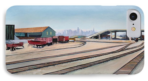 Oakland Train Tracks And San Francisco Skyline IPhone Case