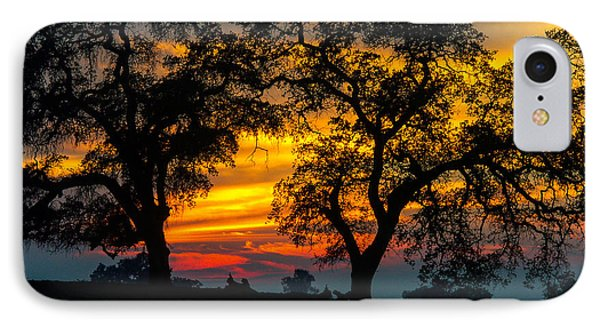 IPhone Case featuring the photograph Oaks And Sunset by Terry Garvin