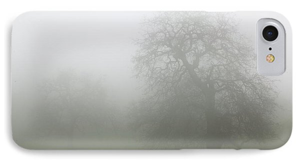 IPhone Case featuring the photograph Oaks In Fog - Central California by Ram Vasudev