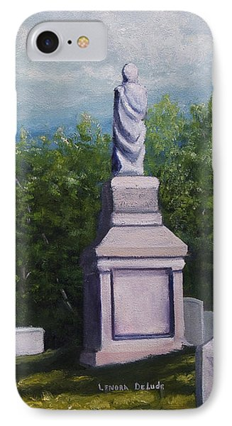 IPhone Case featuring the painting Oakwood Cemetery Jefferson Texas by Lenora  De Lude