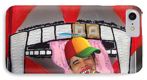 IPhone Case featuring the digital art President Eddie Munster Vampire Ganster Rapper  by Lisa Piper