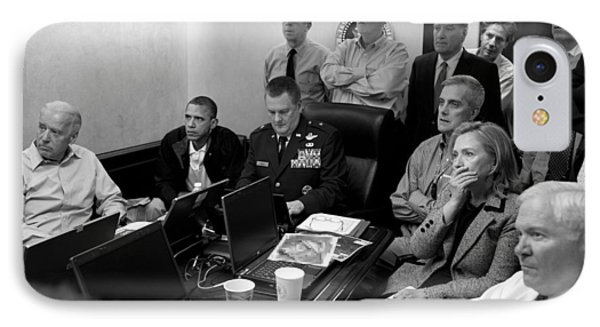 Obama In White House Situation Room IPhone Case by War Is Hell Store