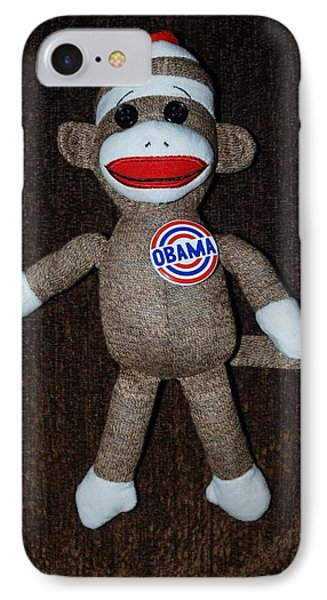 Obama Sock Monkey Phone Case by Rob Hans
