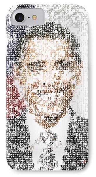 Obama Typographic Portrait IPhone Case