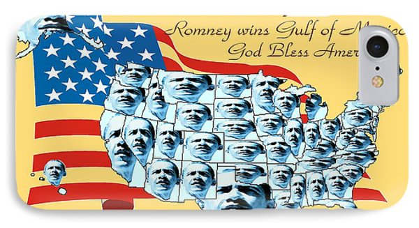 Obama Victory Map Us Election 2012 - Poster Art IPhone Case by Art America Gallery Peter Potter