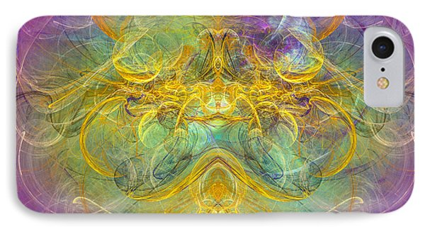 Obeisance To Nature - Spiritual Abstract Art IPhone Case by Modern Art Prints