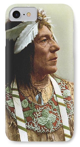 Obtossaway, An Ojibwa Chief IPhone Case by Underwood Archives