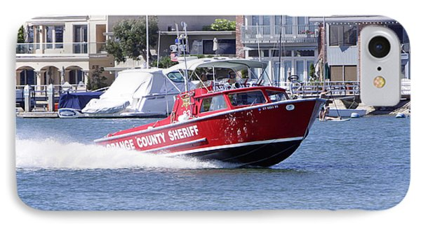 Oc Sheriff Harbor Patrol Fire Fighter Phone Case by Shoal Hollingsworth
