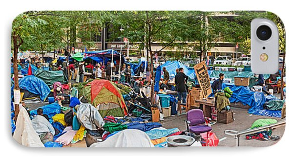Occupy Wall Street At Zuccotti Park IPhone Case by Panoramic Images